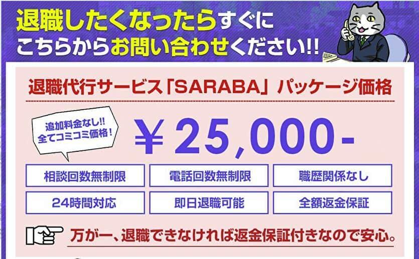 退職代行サービスSARABA 25000円
